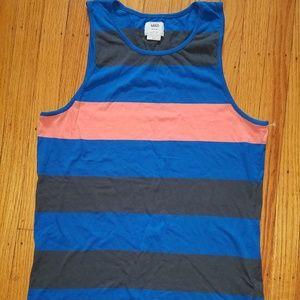 VANS Striped Color Block Men's Tank Top | Medium